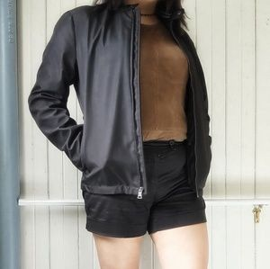 Black Banana Republic Bomber Jacket Women's Small